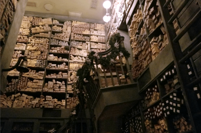 Harry Potter fans can watch a wand choose it's owner at Ollivander's Wand Shop