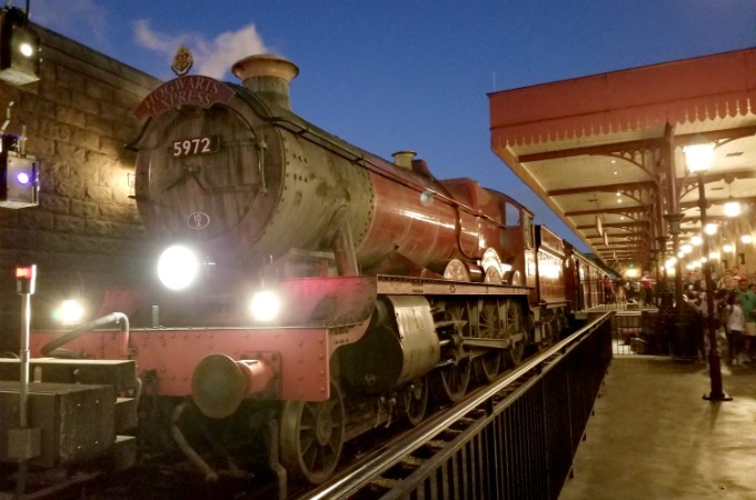 Where else besides Universal Studios Orlando can Harry Potter fans can ride the Hogwart's Express.