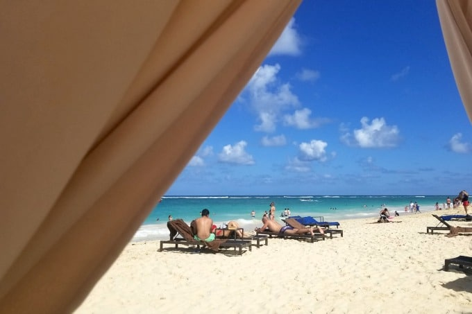 The beach is a major reason for planning a vacation at Memories Splash Punta Cana