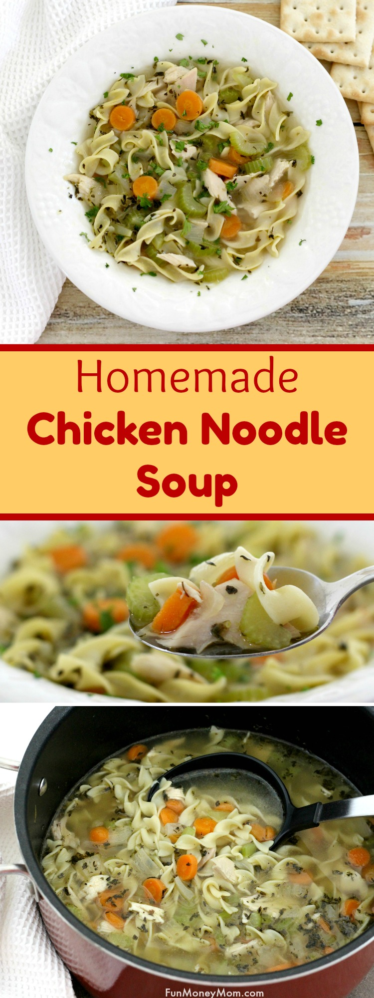 Homemade Chicken Noodle Soup - This chicken noodle soup recipe is the perfect easy dinner. It's a 30 minute recipe that busy moms can cook knowing their feeding their family a healthy meal. #BigelowTea #TeaProudly #ad