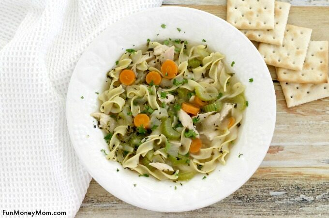 homemade chicken noodle soup feature