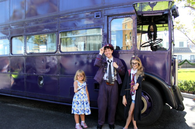 Harry Potter fans can check out the Knight Bus at The Wizarding World Of Harry Potter in Universal Studios Orlando
