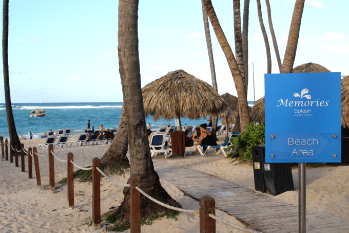 The beach is one of the best reasons to vacation at Memories Splash Punta Cana