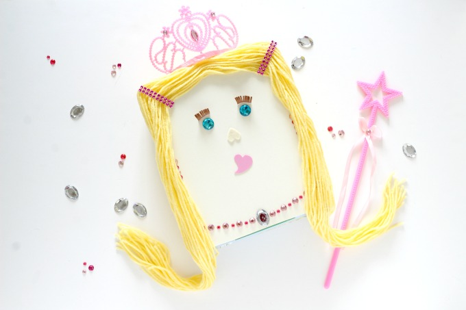 Little girls will love collecting Valentines with this cute Princess Valentine Box