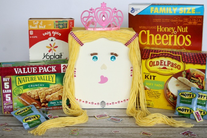 Save Box Tops for school and save the boxes for fun craft projects like a Princess Valentine Box