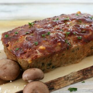 Turkey Meatloaf With Mushrooms, Spinach & Feta