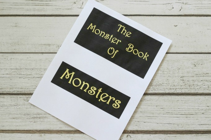Print out the words The Monster Book Of Monsters