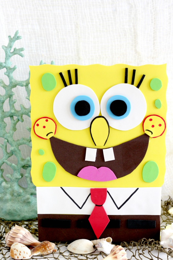 Sponge Bob fans will love this adorable Sponge Bob Valentine Box