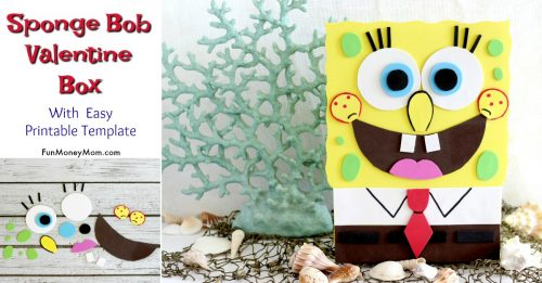 Cute Ideas For Valentine's Day Boxes: Sponge Bob