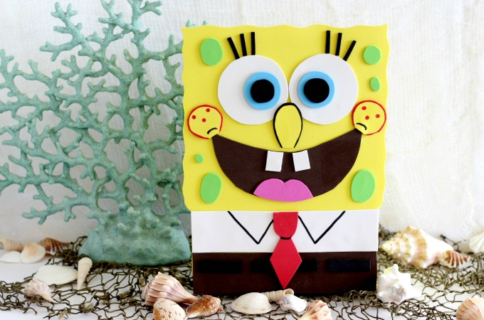Sponge Bob Valentine Box With Printable Template