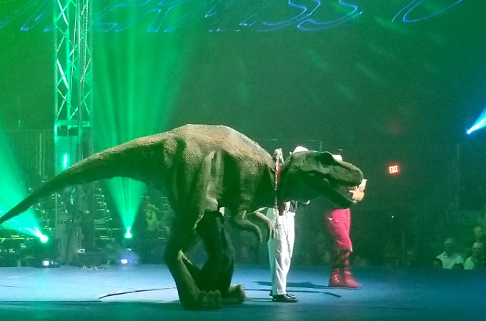 We certainly didn't expect to see a dinosaur!
