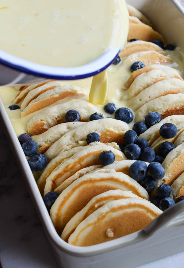 Breakfast casseroles - Blueberry Pancake French Toast Bake