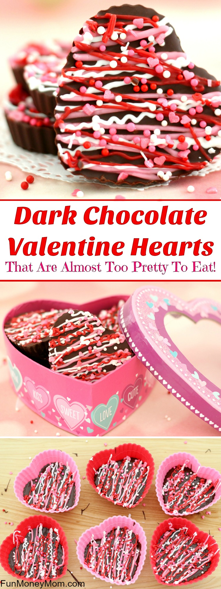 Dark Chocolate Valentine Hearts Pinterest