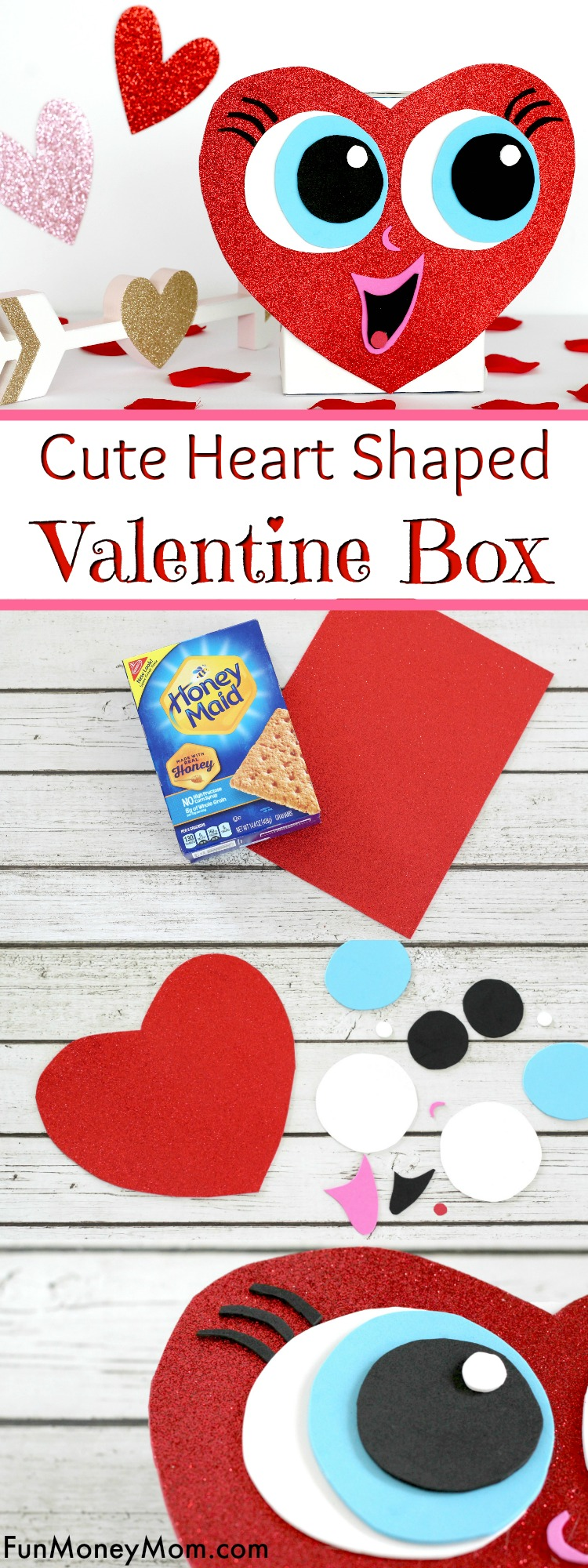 Cute Heart Shaped Valentine Box For Valentines Day Fun Money Mom