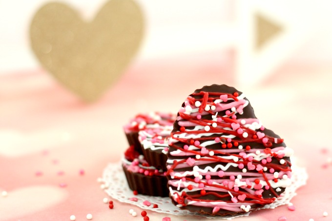 These Dark Chocolate Valentine Hearts are almost too pretty to eat.