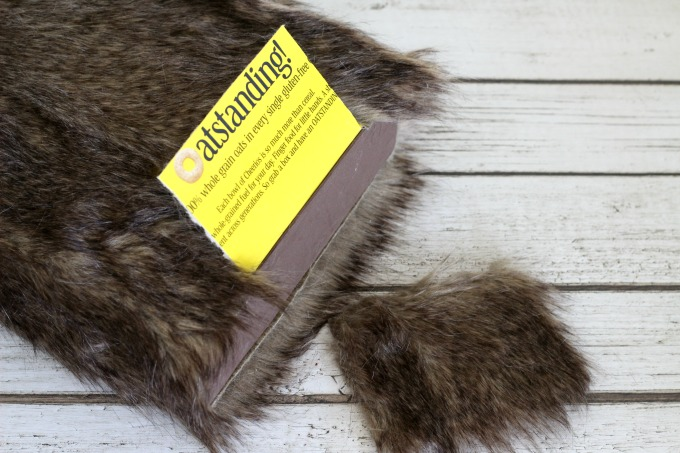 Cut a square of fur off the back for the Chewbacca Valentine Box for the flap.