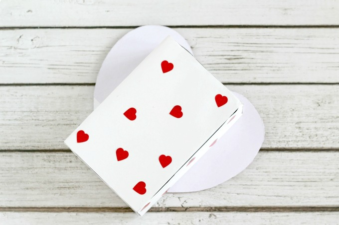 Finish off your heart shaped Valentine box with some pretty heart stickers.