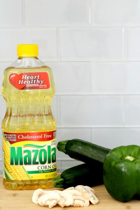 Swapping out pasta for zucchini spaghetti and use Mazola for better-for-you meals