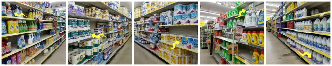 Dollar General has plenty of cleaning supplies for a coastal themed bathroom makeover