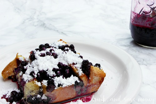 Breakfast casseroles - Blueberry French Toast