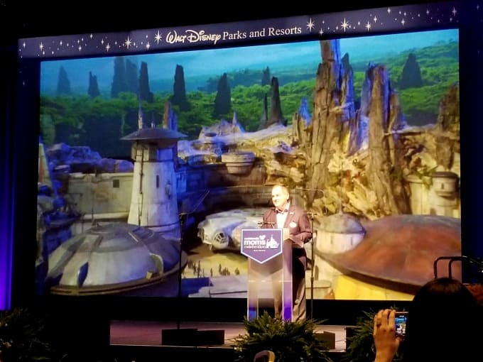 The president of WDW Resorts, George Kalogridis spoke first and got us excited about all the upcoming events