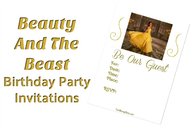 Free Printable Beauty And The Beast Birthday Invitations