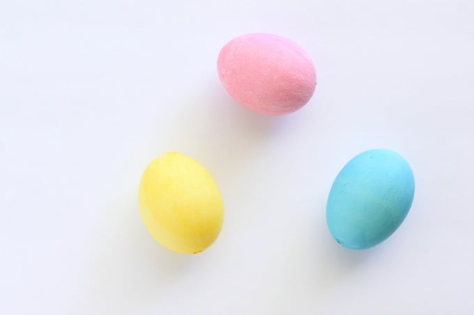 You can use pink, yellow or blue (or all three) for your Disney princess Easter egg