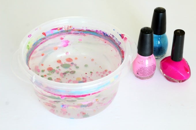 Nail polish is great for Easter egg marbling