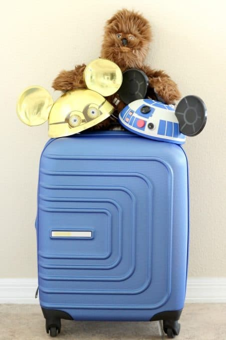 Part of the fun of the Disney Social Media Moms Celebration is the great swag, like this American Tourister suitcase