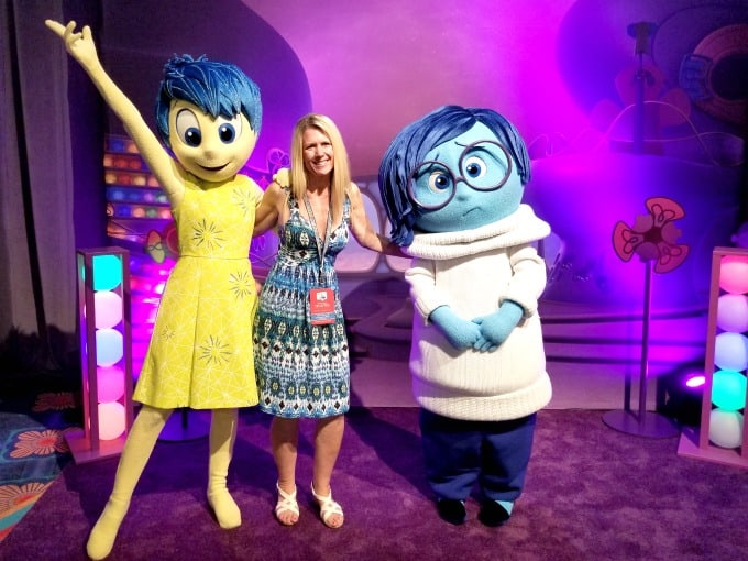 I was happy to meet the characters from Inside Out