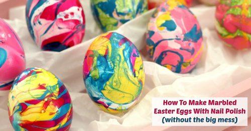 Marbled Easter eggs Facebook