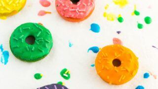 Easy Rainbow Colored Baked Donut Recipe