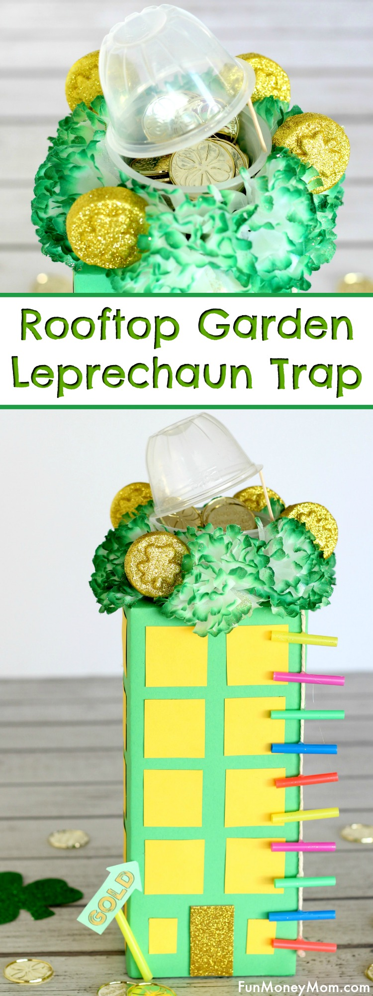Leprechaun Trap - Trap a leprechaun in this cute rooftop garden. It's a fun St. Patrick's Day craft for both the kids and the grown ups!