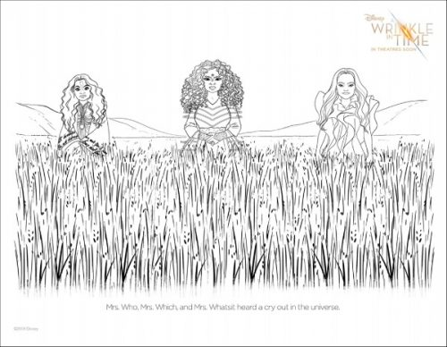 A Wrinkle In Time Coloring Page 1