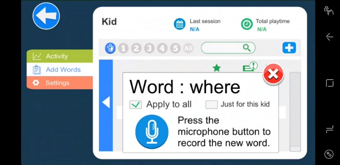 The Kidomi learning app can be customized for your child.