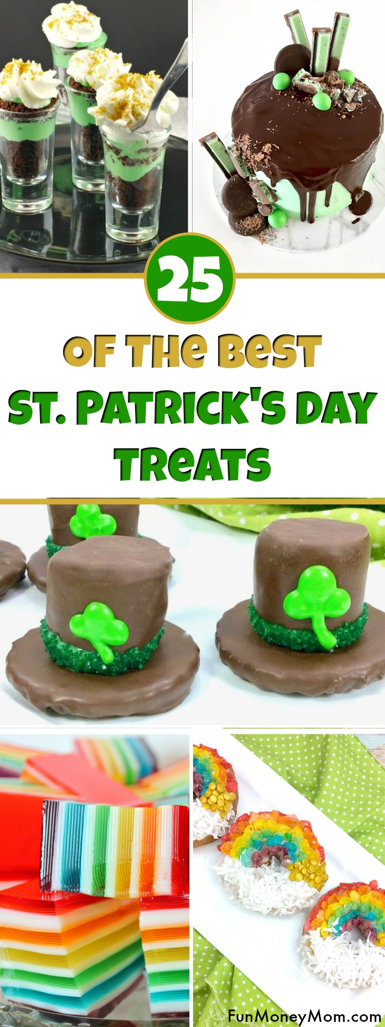 St. Patrick's Day Treats - Looking for the best St. Patrick's Day recipes? From rainbow food to marshmallow leprechaun hats, these yummy St. Patrick's Day recipes will have you covered. #StPatricksDay #StPatricksDayFood #StPatricksDayTreats