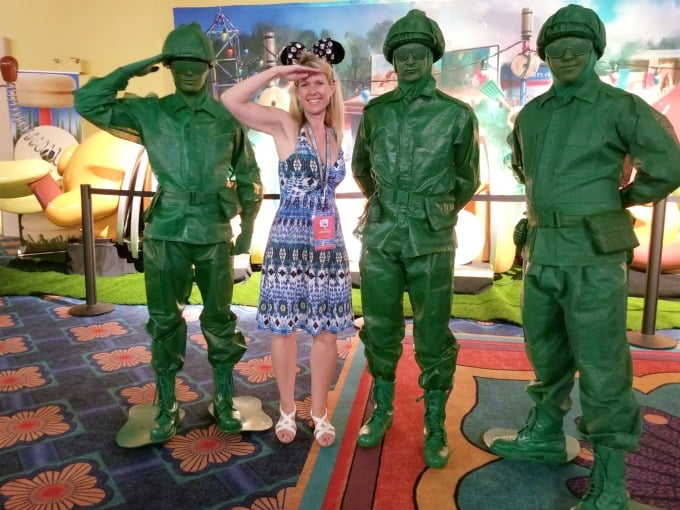 Hanging out with the Toy Soldiers from Toy Story