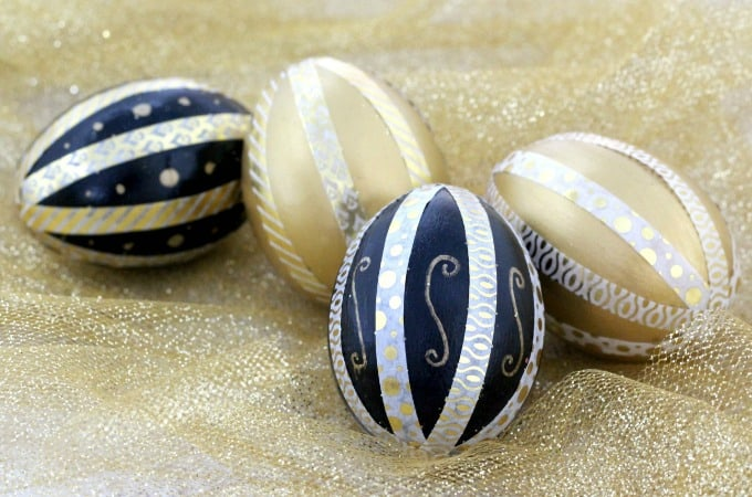 How To Use Washi Tape To Make Decorative Easter Eggs