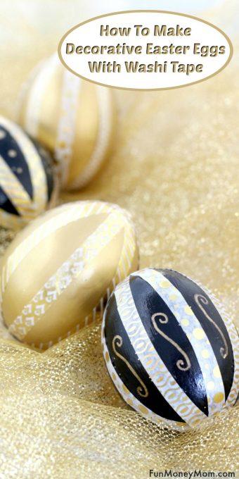 Washi tape Easter eggs Pinterest