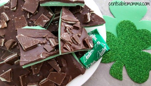 St. Patrick's Day Treat Ideas - Grasshopper Mint Chocolate Bark