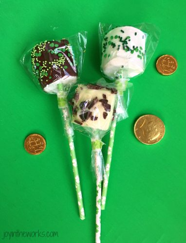 St. Patrick's Day Treat Ideas - St. Patrick's Day marshmallow pops