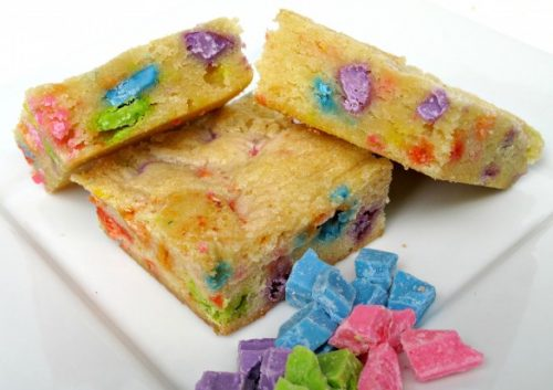 St. Patrick's Day Treat Ideas - Rainbow Chip Blondies