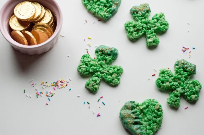 St. Patrick's Day Treat Ideas - Rice Krispie Treats