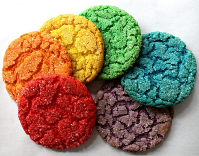 St. Patrick's Day Treat Ideas - Rainbow Cake Mix Cookies