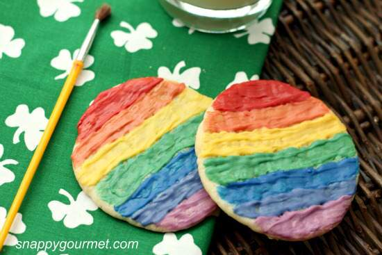 St. Patrick's Day Treat Ideas - Rainbow Sugar Cookies