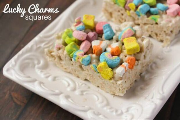St. Patrick's Day Treat Ideas - Lucky Charms Squares