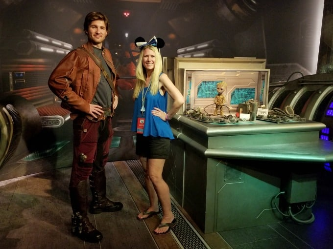 Making friends with the characters from Guardians Of The Galaxy