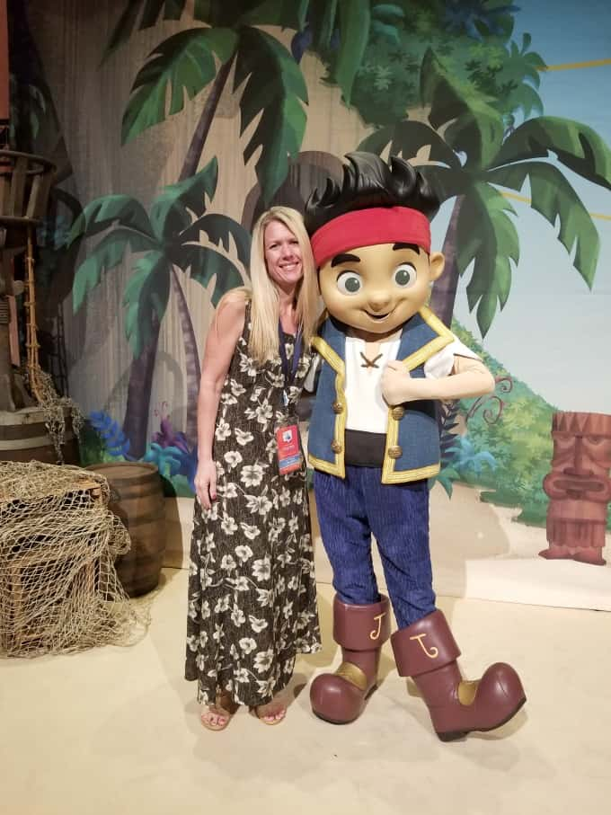Hanging out with Jake from Jake And The Neverland Pirates