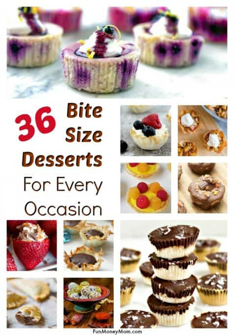Bite size desserts - I love making bite size desserts for parties and these bite sized desserts are perfect for any occasion. From fancy to easy bite size desserts, these have you totally covered! #desserts #bitesizedesserts #easydesserts #bitesizedessertsforparties #minidesserts