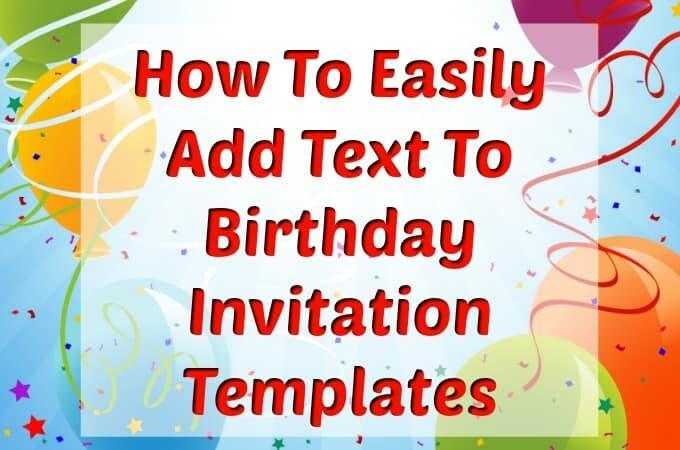 Birthday invitation templates feature